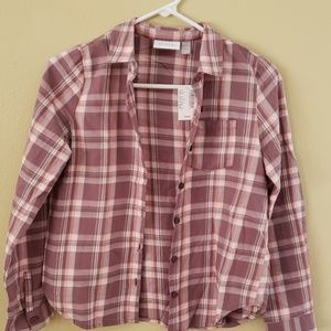 CHILDREN'S PLACE NWT button up plaid shirt